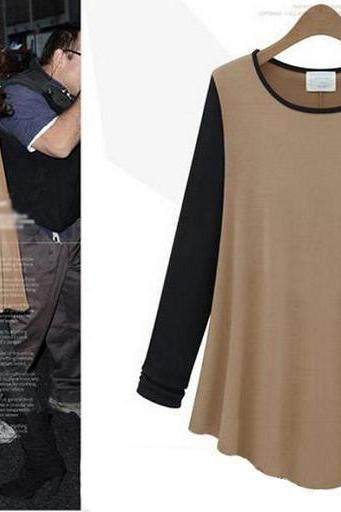 Fashion irregular loose T-shirt L91084