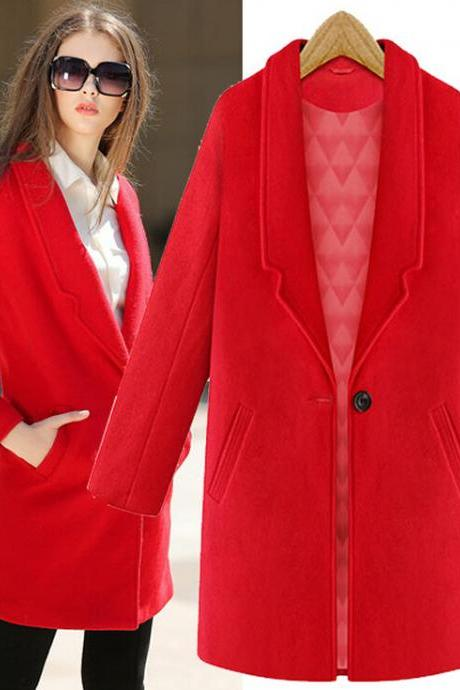 Fashion lapel wool coat 5719604