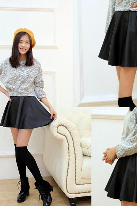 Fashion sexy miniskirt solid color skirts 6330921