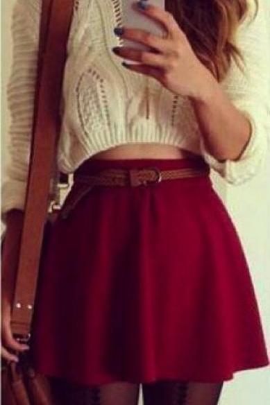 Lovely Mini Skirt For Autumn Or Winter, Nice Skirt 2015, Women Skirts T15010301
